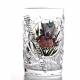Хрустальный стакан с живописью