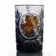 Хрустальный стакан с живописью цв.полутон черный