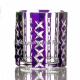 Хрустальный набор стаканов для виски 6шт цв.фиолетовый