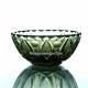 Хрустальная ваза для крема «Бусинка» цв.зеленый-болотный
