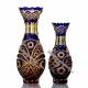 Хрустальная ваза для цветов «Надежда» малая ,цв.янтарно-синий