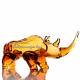 Хрустальное декоративное изделие «Носорог» цв.янтарный