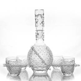 Хрустальный набор «раната» (графин , 6 стаканов)