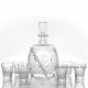 """Хрустальный набор штоф """"Овальный"""" и стакан """"Ноготок"""" 6шт"""
