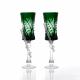 Хрустальный набор бокалов серии «Шведка» цв.зеленый