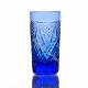 """Хрустальный стакан """"Пальчик"""" цв.синий"""