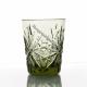 Хрустальный набор стаканов «Подарочный» 6шт цв. зеленый-болотный