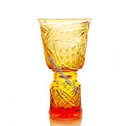 """Хрустальная ваза для цветов """"Звон"""" цв. янтарный"""