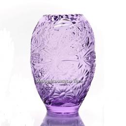"""Хрустальная ваза для цветов """"Карамель"""" произвольный рис. цв. неодимовый"""