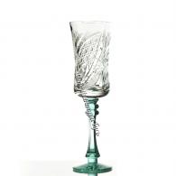 Хрустальный набор бокалов серии «Шведка» бирюзовая ножка