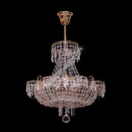 Люстра хрустальная Ромашка 4 лампы с подвесом