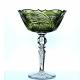 Хрустальная ваза для печенья  «Журавушка» цв.ножка