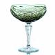 Хрустальная ваза для печенья «Бусинка» цв.зеленый-болотный