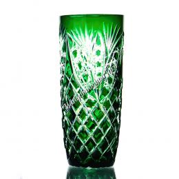 """Хрустальный набор стаканов «Бутон» рис. """"Фараон"""" цв.зеленый"""
