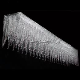 Люстра  хрустальная Капель прямоугольник шар 30 мм