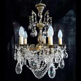 Люстра бронзовая Мелания 6 ламп Игла