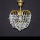 Люстра хрустальная Малинка шар (под бронзу)