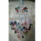 Люстра  Хрустальные брызги с подвесом шар 30 мм разноцветная