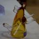 Хрустальный бокал «Крыса» с лапками янтарная