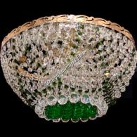 Люстра хрустальная Анжелика 6 ламп +низ зеленая