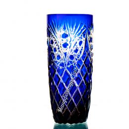 """Хрустальный набор стаканов «Бутон» рис. """"Фараон"""" цв.янтарно-синий"""