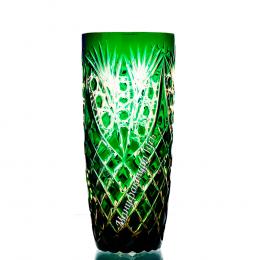 "Хрустальный набор стаканов «Бутон» рис. ""Фараон"" янтарно-зеленый"