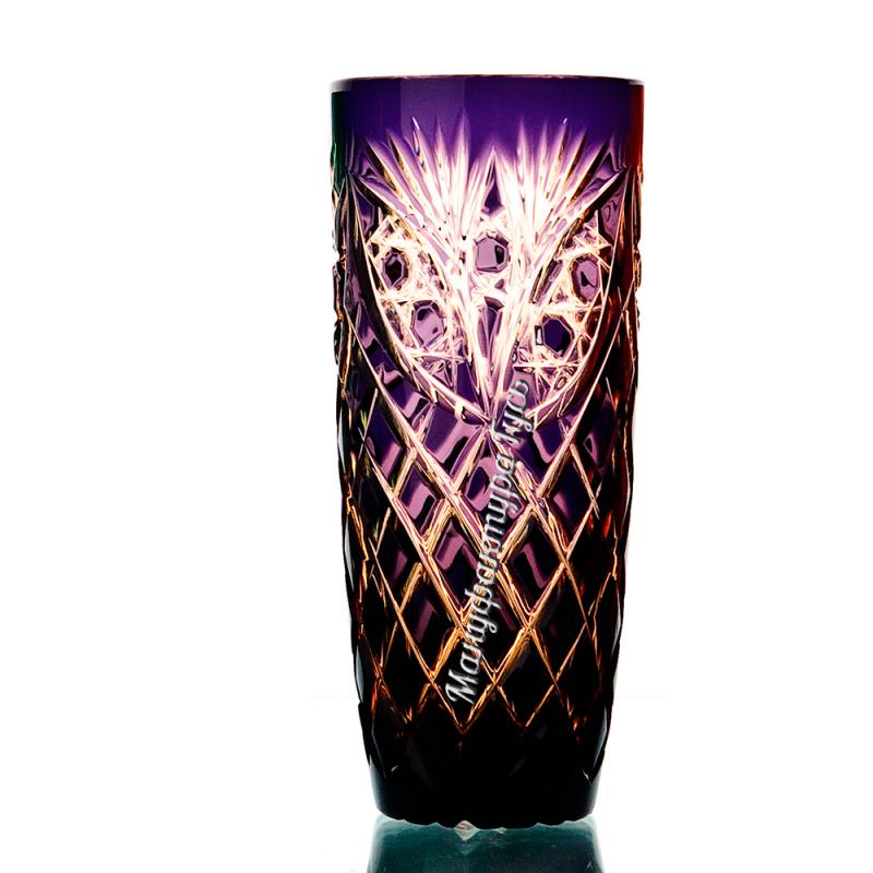 """Хрустальный набор стаканов «Бутон» рис. """"Фараон"""" янтарно-фиолетовый"""