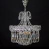Люстра хрустальная Катерина 3 лампы забор с подвесом