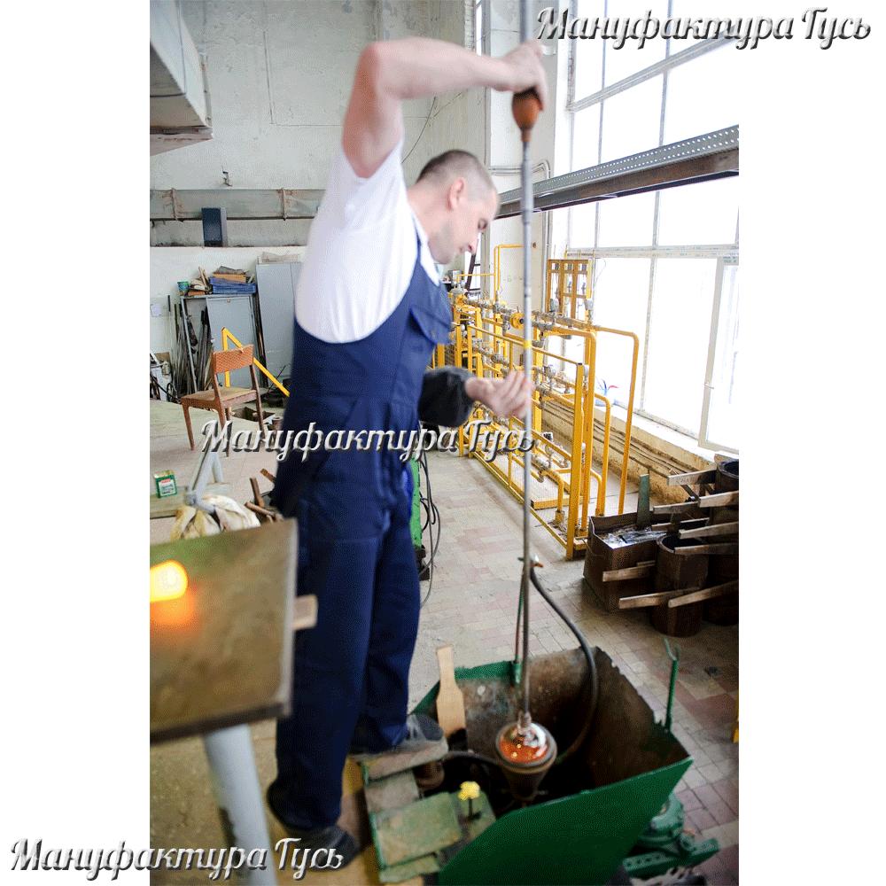 производство хрусталя